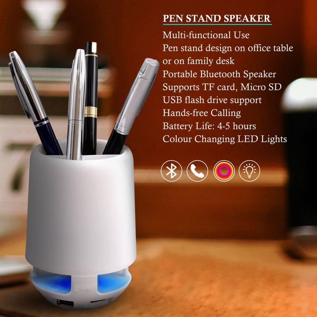 Pen Stand Bluetooth Portable Speaker