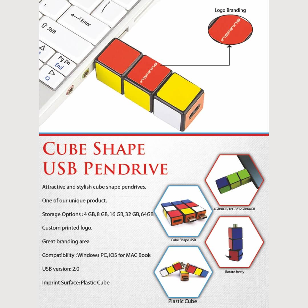 Cube Shape USB Pendrive