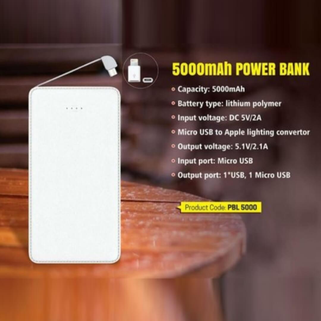 Card Power Bank 5000mAH