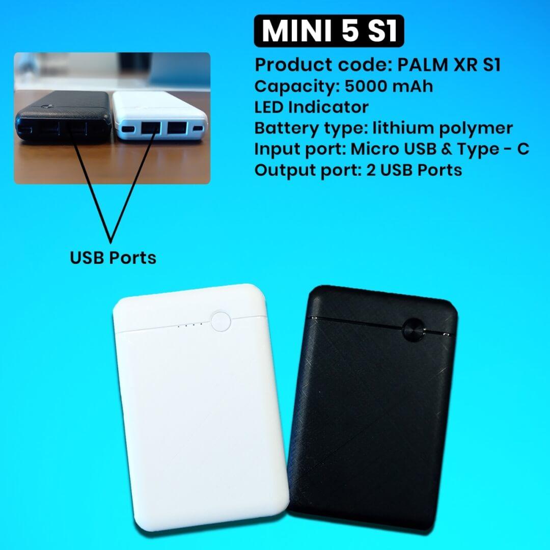 Mini 5s1 Power Bank 5000mAH