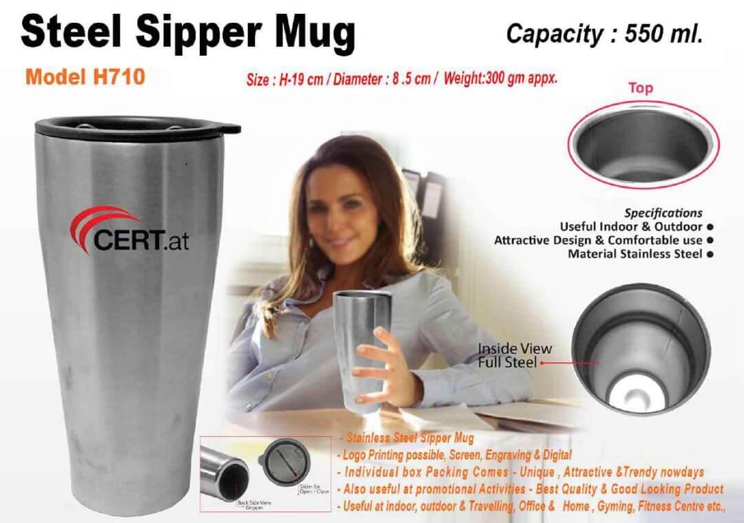 Steel Sipper Mug 710