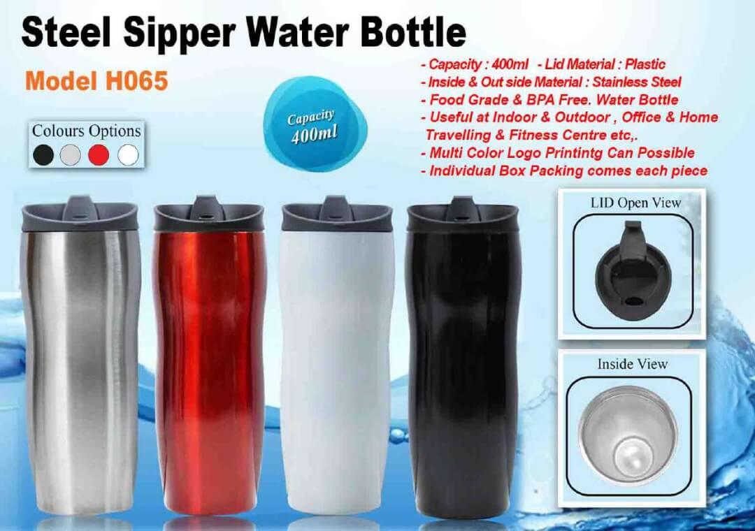 Steel Sipper Water Bottle 065