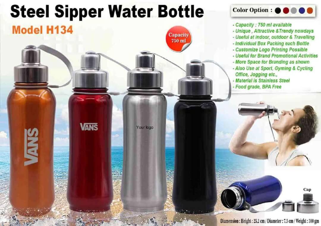 Steel Sipper Water Bottle 134