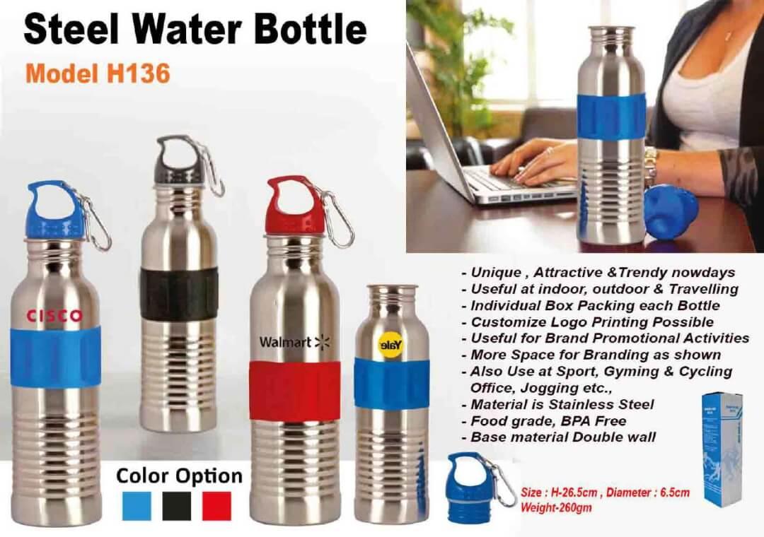 Steel Water Bottle 136