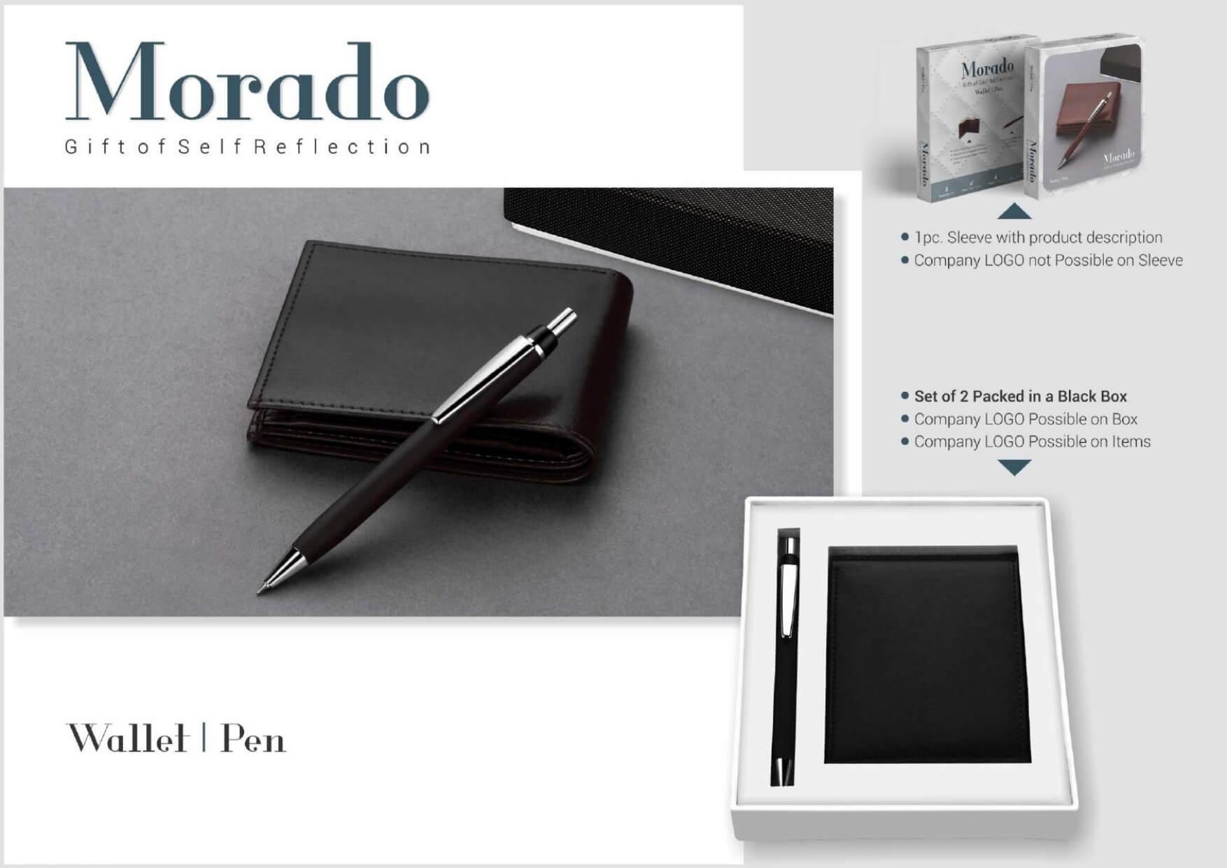 Wallet and Pen Set 2 in 1 Morado