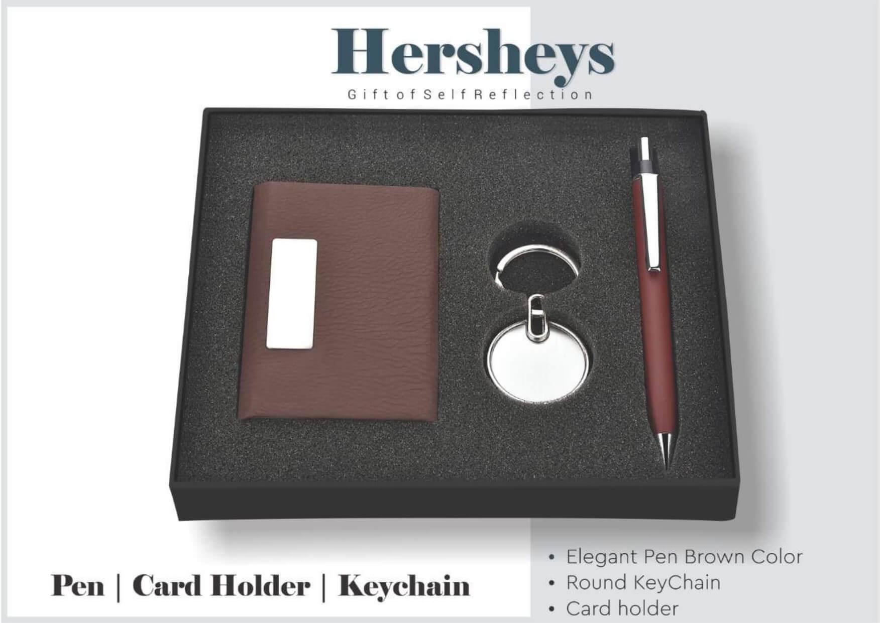 Card Holder, Pen And Keychain Set (3 in 1) Hersheys