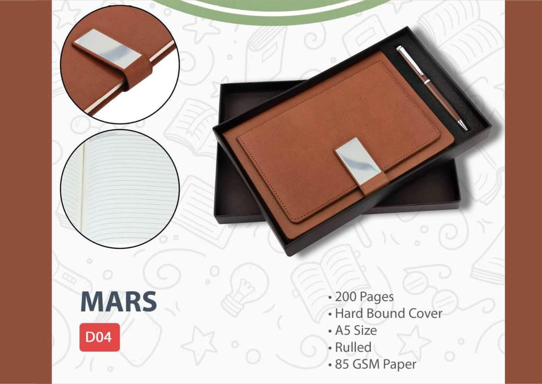 A5 Diary Pen Set Mars