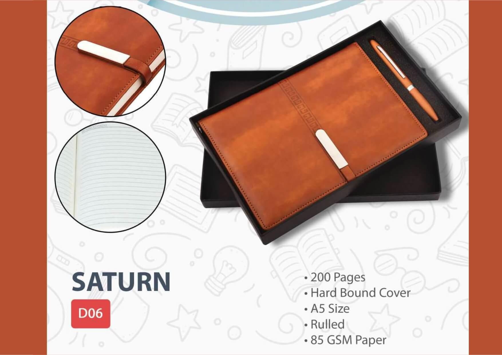 Corporate Diary Pen Gift Set Saturn