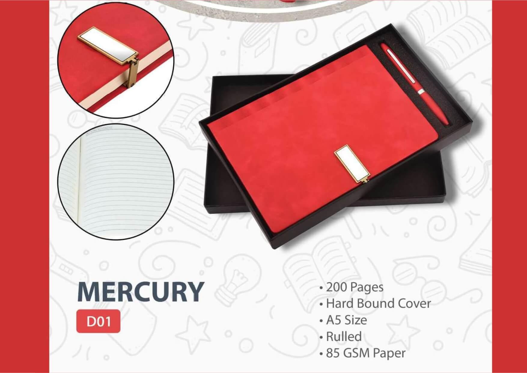 Pen Diary Gift Set Mercury