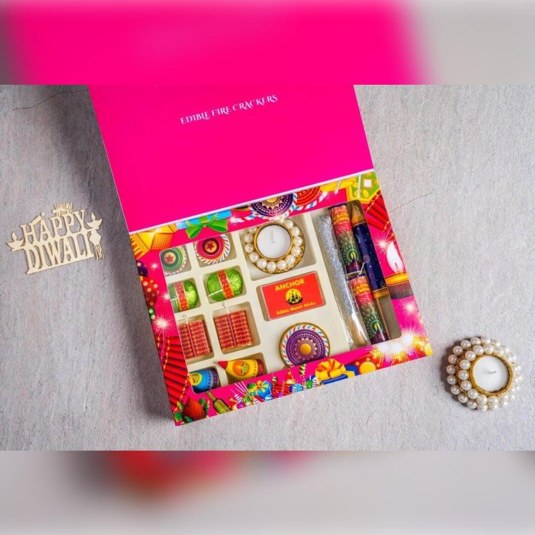Chocolate Diya Diwali Gift Box