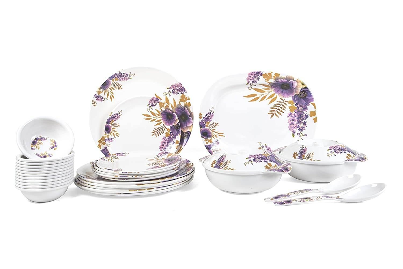 31 pcs Melamine Dinner Set (Bell Flower) D-601