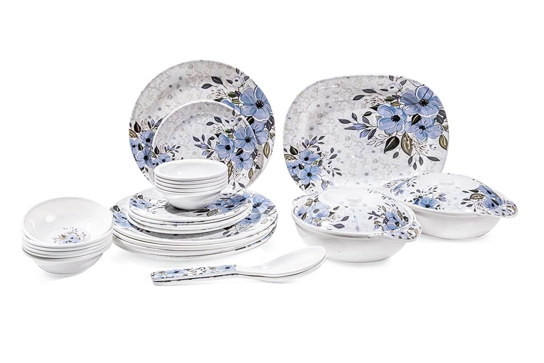31 pcs Melamine Dinner Set (Empire Blue) D-604