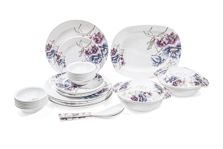 31 pcs Melamine Dinner Set (Royal Indigo) D-607