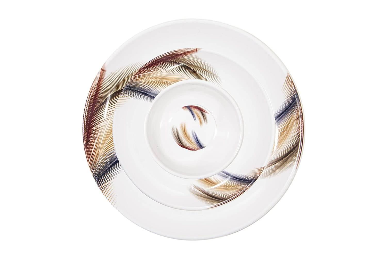 32 pcs Melamine Dinner Set (Feather Touch)