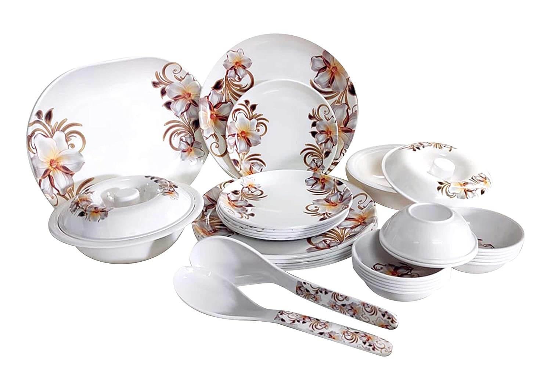32 pcs Melamine Dinner Set (White Fairy)
