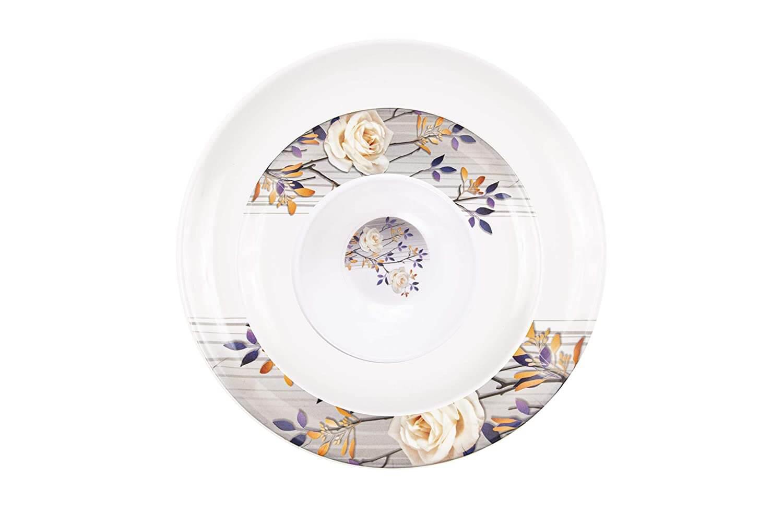 32 pcs Melamine Dinner Set (White Rose)