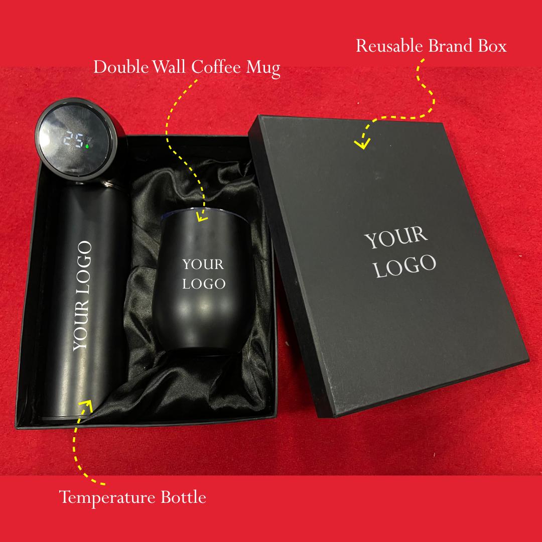 Temperature Flask with Coffee Mug Set
